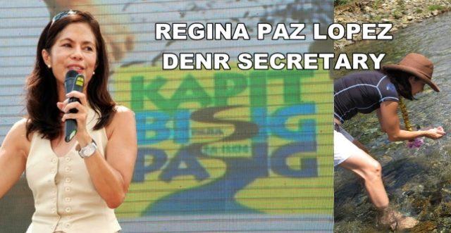 Regina Lopez, DENR secretary