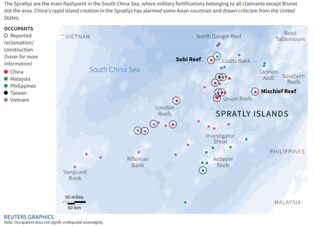 Reuters Spratlys graphics