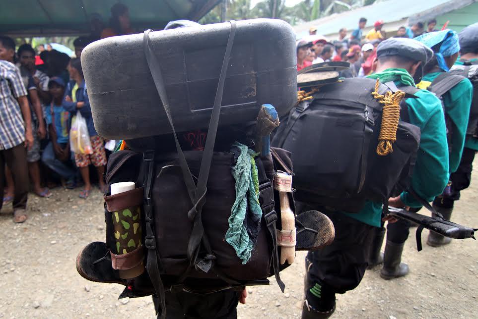 NPA porters with supplies