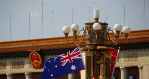 China Australia flags