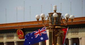 China Australia flags