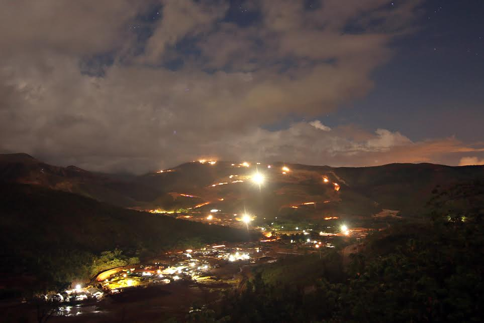 Claver night tie mining activity