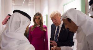 Donald Melania Saudi royals