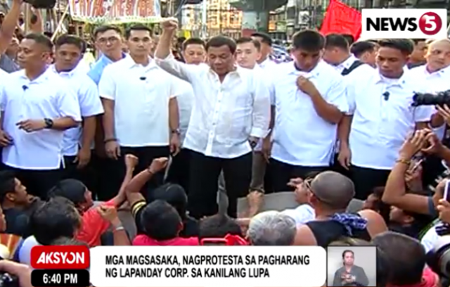 Duterte Lapanday protesters