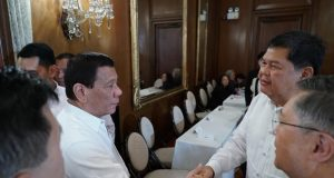 Duterte congratulates Espenilla
