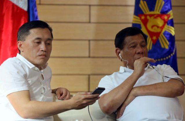 Duterte on phone