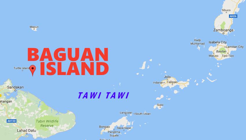 Map Baguan Island