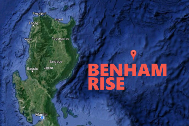 Benham Rise map