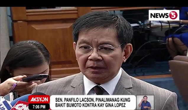 Panfilo Lacson with journalists