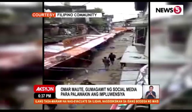 Maute Group social media savvy