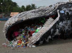 Beached whale art install Naic