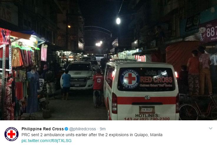 Quiapo blast Red Cross ambulance