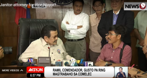 Mayor Estrada and Ramil Comendador