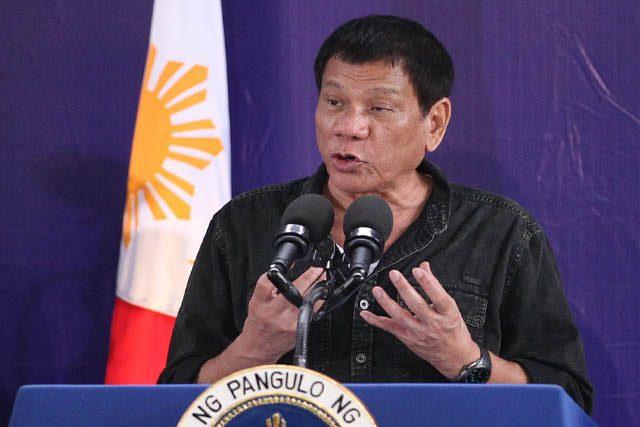 Ridrigo Duterte speaks