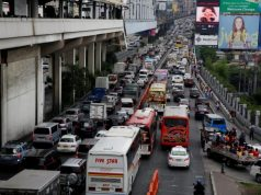EDSA rush hour traffic
