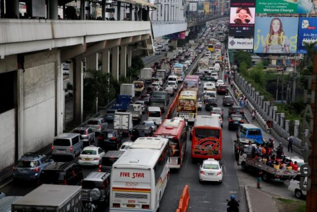 EDSA rush hour traffic