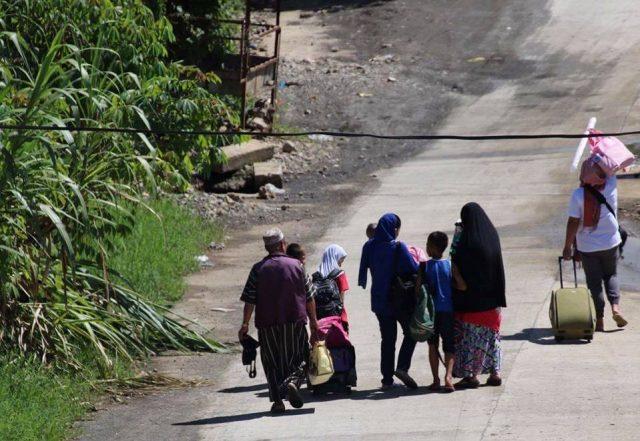 Marawi residents evacuation