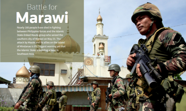Soldiers mosque Marawi City