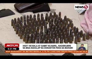 Ammo among relief goods Marawi