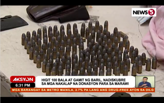 Ammo among relief goods Marawi