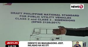DTI draft modern jeepney design