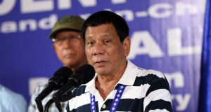Duterte speaks before 4th ID troops Bancasi