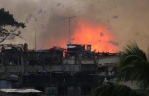 air strike blast Marawi
