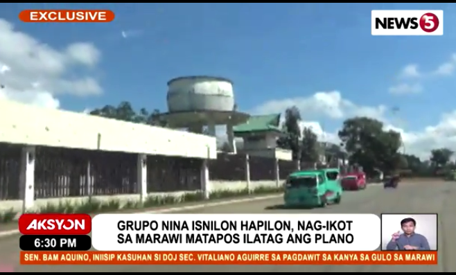 Marawi assault planning water tower