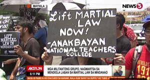 Mendiola protest Mindanao martial law