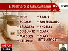 PNR stations Tutuban to Clark