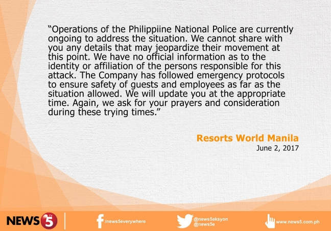 Resorts World Manila statement