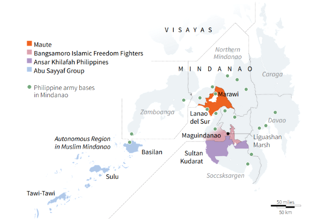 Marawi conflict infograph map