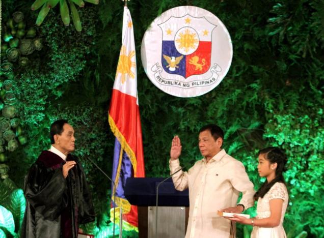 Duterte takes oath as president