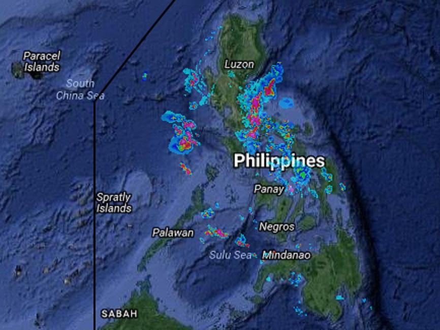Tuesday Weather Map.Rainy Tuesday Forecast Interaksyon