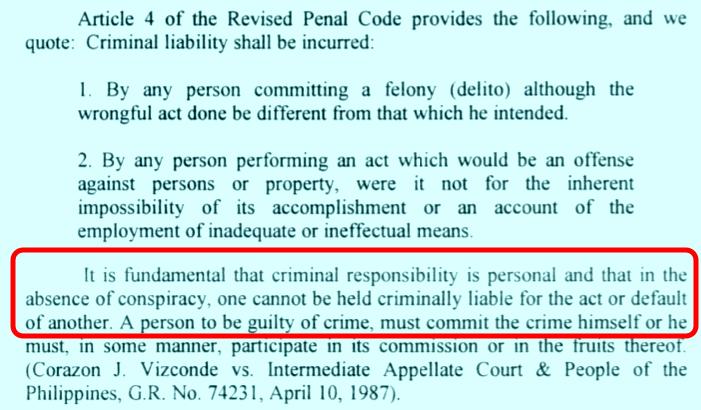DOJ resolution detail personal criminal responsibility