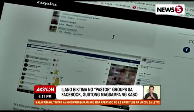 Facebook against pastor hokage pages