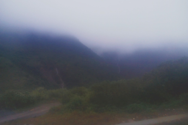 Foggy Benguet lanscape