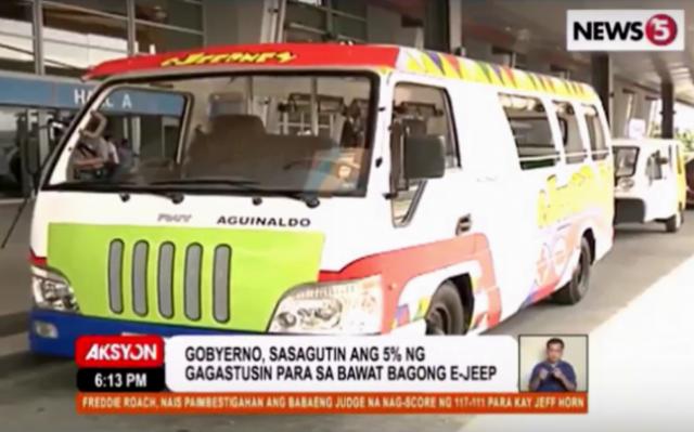 Model modern jeepney