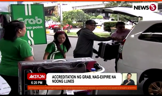Grab accreditation not acted on by LTFRB