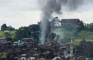 Marawi smoke air strike