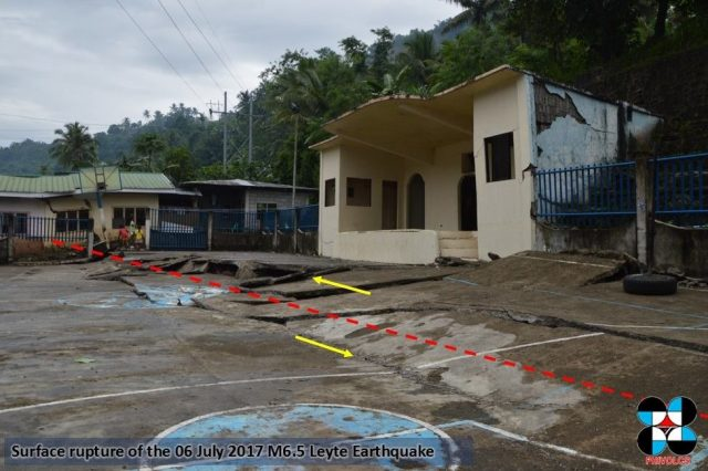 Ground rupture Leyte quake