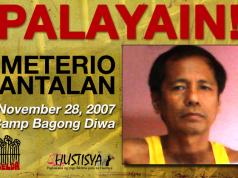 Emeterio Antalan freed political prisoner