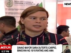 Sara Duterte rates her father