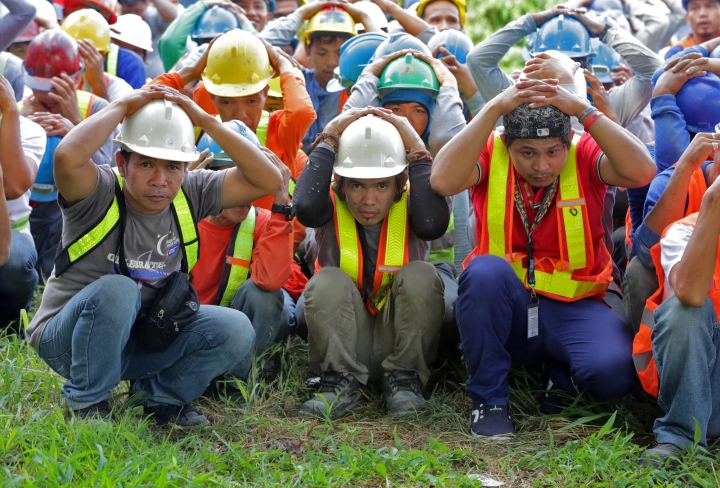2017 Shakedrill Filinvest workers Alabang