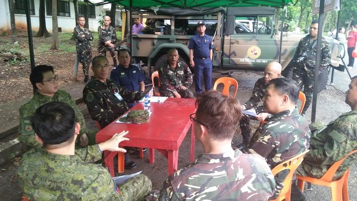 QC Mayor Bautista SHAKEDRILL command post