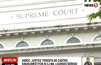 De Castro Sereno tension at SC