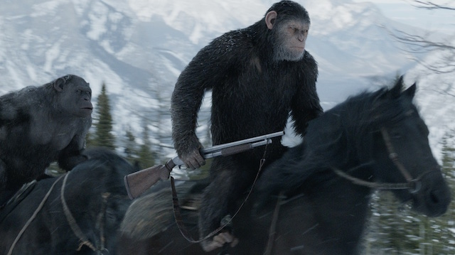 'War for the Planet of the Apes' races past 'Spider-Man'