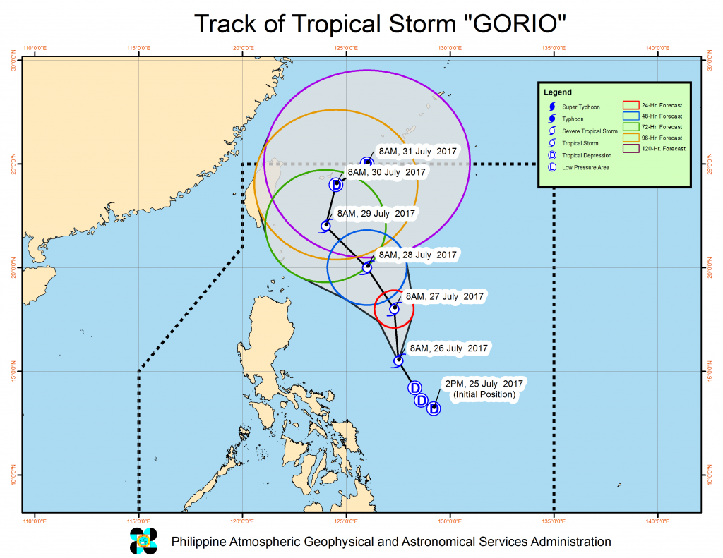 Gorio intensifies into severe tropical storm, signal no