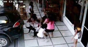 female gang brawl Butuan