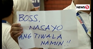 Comelec staff support Bautista